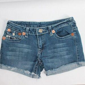 True Religion Joey Cut-Off Jean Shorts